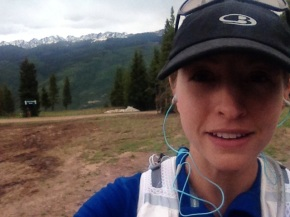 On top of Vail Mountain in June 2014 during training session